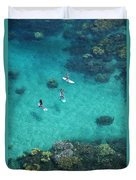 Stand Up Paddling Duvet Cover