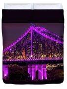 Story Bridge In Brisbane, Queensland Duvet Cover