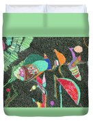 Watermelon In The Space Duvet Cover