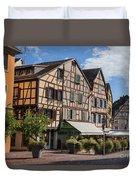 Streets Of Colmar Duvet Cover