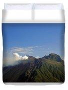 Stromboli Volcano On The Island Of Stromboli Duvet Cover