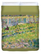 Study For Sunday Afternoon On The Island Of La Grande Jatte Duvet Cover