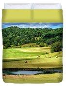 Summer Morning Hay Field Duvet Cover