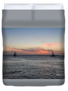 Sunset Key West  Duvet Cover