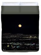 Super Moon In Las Vegas Duvet Cover