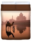Taj Mahal At Dawn Duvet Cover