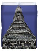 Temple Detail In Bangkok Thialand Duvet Cover
