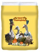Thanksgiving Ducks Duvet Cover