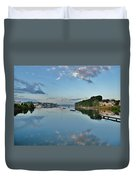 The Bass River At Dawn, Beverly Ma Duvet Cover