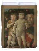 The Holy Family With Saint John Duvet Cover