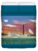 The Steamship Syracuse Duvet Cover