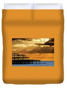 The West Pier In Brighton At Sunset Duvet Cover