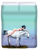 3 The Woman In The Pond Duvet Cover