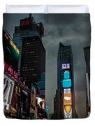 Times Square Nyc Duvet Cover