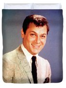 Tony Curtis Vintage Hollywood Actor Duvet Cover