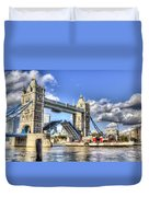 Tower Bridge And The Waverley Duvet Cover