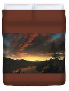 Twilight In The Wilderness Duvet Cover