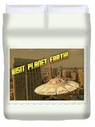 Ufo Postcards Home By Raphael Terra Duvet Cover