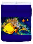 Underwater. Fish. Duvet Cover