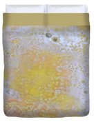 3. V2 Yellow And White Bubble Glaze Painting Duvet Cover