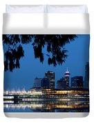 Vancouver Skyline Canada Duvet Cover