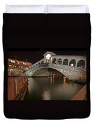 Venice By Night Duvet Cover