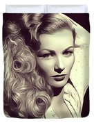 Veronica Lake, Vintage Actress Duvet Cover
