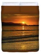 Vibrant Orange Sunrise Seascape Duvet Cover