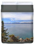 View Across Lake Tahoe Duvet Cover