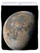 Waning Gibbous Moon / Day 20 Duvet Cover