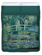 Water Lilies And Japanese Bridge Duvet Cover