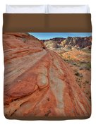 Wave Of Color In Valley Of Fire Duvet Cover