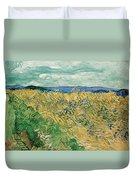 Wheat Field With Cornflowers Duvet Cover