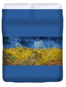 Wheat Field With Crows Duvet Cover