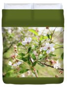 White Cherry Flower Duvet Cover