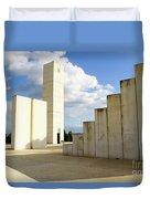 White City Statue, Tel Aviv, Israel Duvet Cover