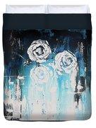 3 White Roses Duvet Cover