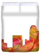 Winston-salem North Carolina Skyline Duvet Cover