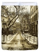 Winter In Paris Duvet Cover