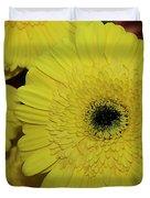 Yellow Gerbers Duvet Cover