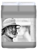 Roatan People Duvet Cover