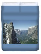 306754 Yosemite Valley From Union Point  Duvet Cover