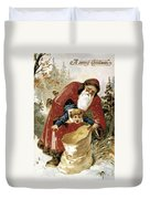 American Christmas Card Duvet Cover