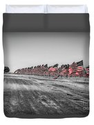 Pepperdine Flag Salute Duvet Cover