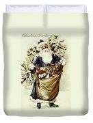 American Christmas Card Duvet Cover