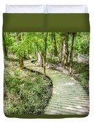 cypress forest and swamp of Congaree National Park in South Caro Duvet Cover
