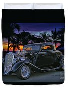 33 Ford On The Mexico Beach Duvet Cover