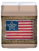 33 Star American Flag. Painting Of Antique Design Duvet Cover