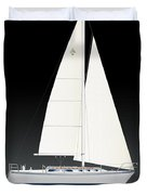 33b Gallant Sailing Duvet Cover