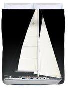 33b Gallant Sailing Duvet Cover